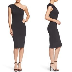 NWT Dress the Population Quinn One Shoulder Dress